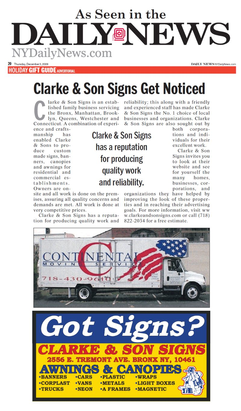 Clarke And Son Signs Ny Nj Amp Ct Custom Signs And